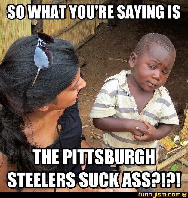 So What You Re Saying Is The Pittsburgh Steelers Suck Ass