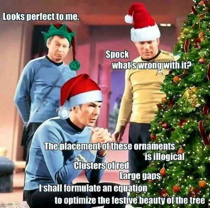 Spock Working Out A Christmas Tree | Funny Pics | Funnyism Funny Pictures