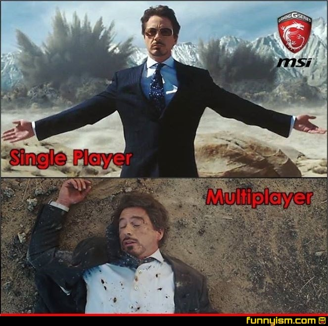 single player vs multiplayer | Funny Pics | Funnyism Funny ...