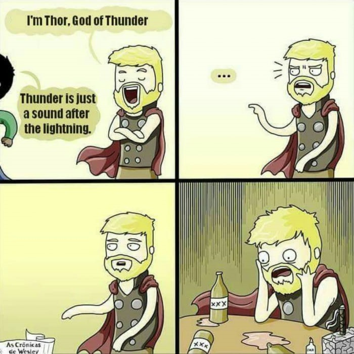 Lightning and the Thunder! (Thunder!)   Funny Pics   Funnyism Funny