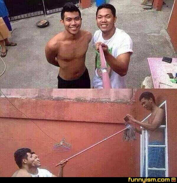 selfie stick epic fail funnyism funny pictures. Black Bedroom Furniture Sets. Home Design Ideas