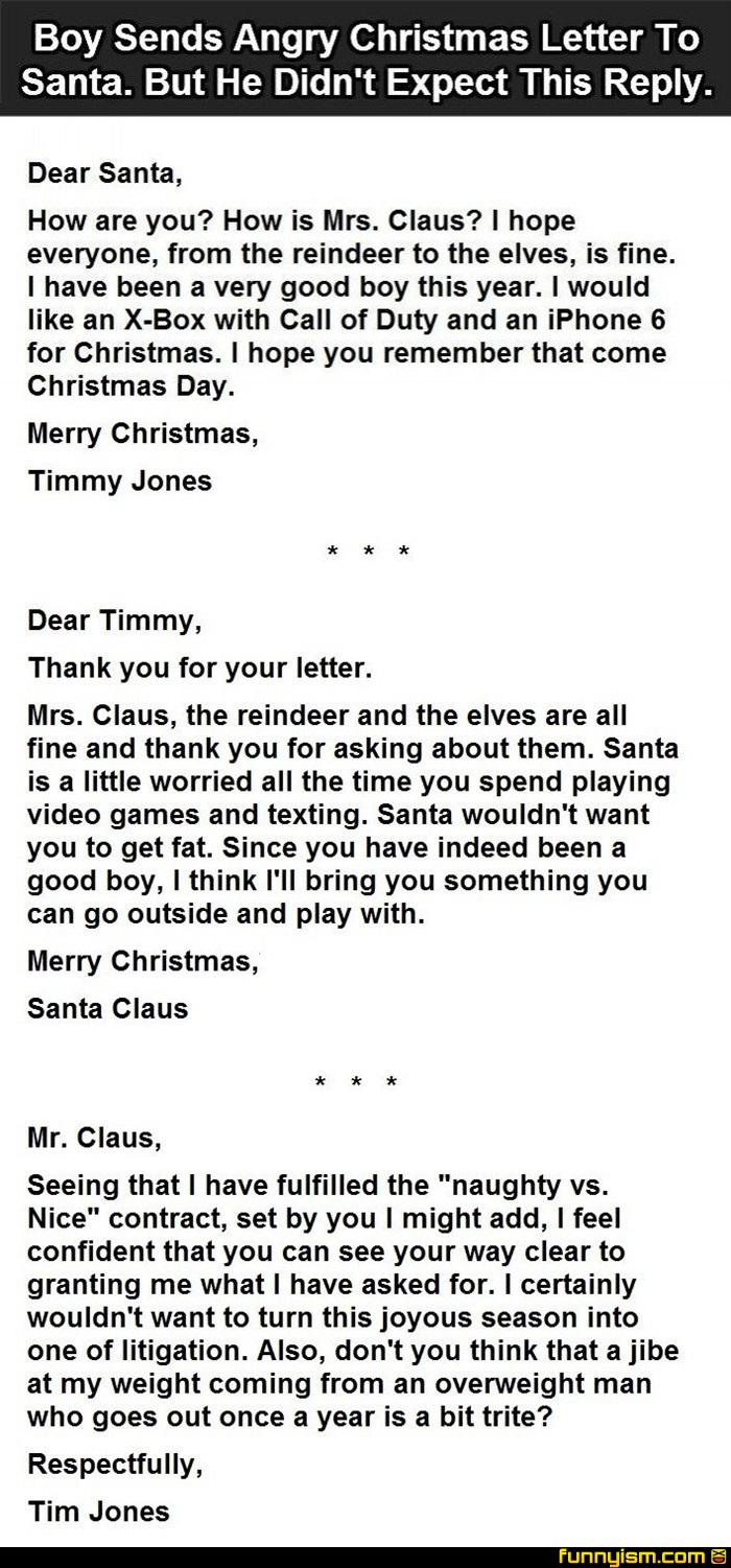 Letter to santa funny pics funnyism funny pictures spiritdancerdesigns Images