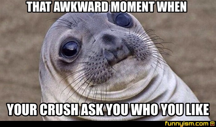Funny Memes For Your Crush : That awkward moment when your crush ask you who you like meme