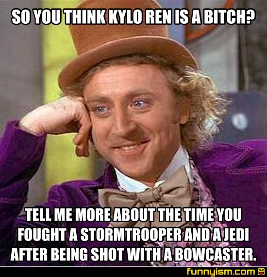 So You Think Kylo Ren Is A Bitch Tell Me More About The Time You