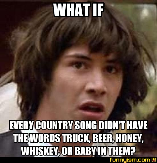 c64ce00d 8b4d 4b8f 87be 49ed2b2a2207 what if every country song didn't have the words truck, beer, honey