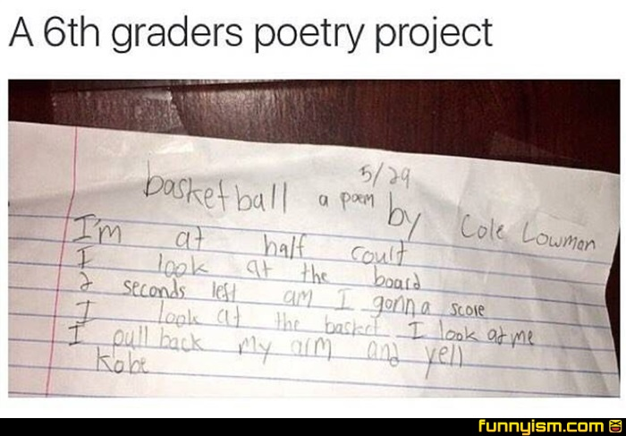 Completely new Basketball Poem | Funny Pics | Funnyism Funny Pictures BT49